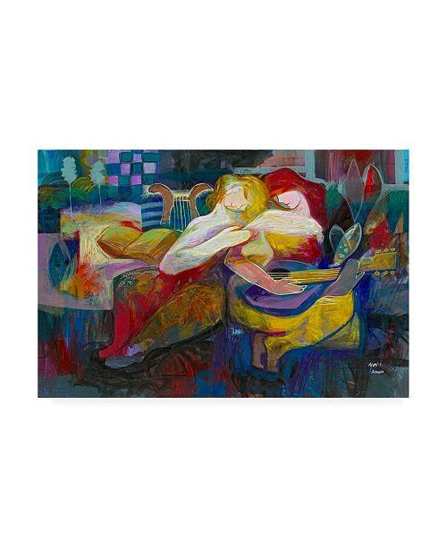 """Trademark Global Jessica Acunda Just Two of Us Canvas Art - 19.5"""" x 26"""""""