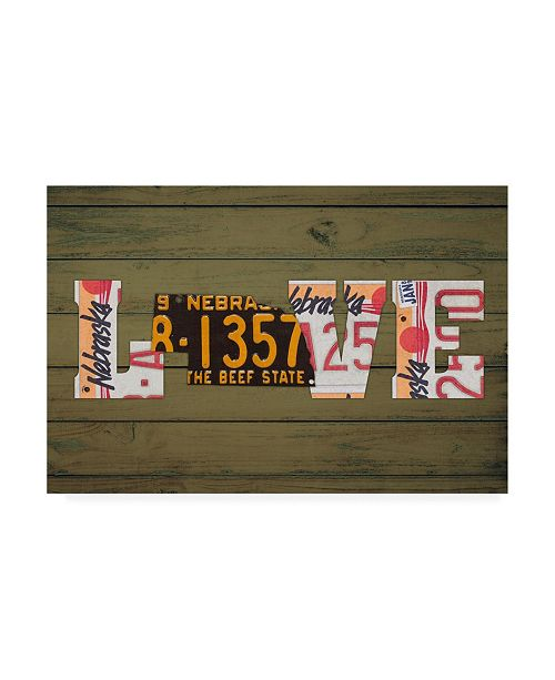"Trademark Global Design Turnpike NE State Love Canvas Art - 27"" x 33.5"""