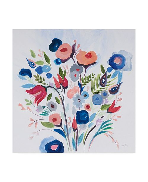 "Trademark Global Joan E. Davis You Make Me Happy Canvas Art - 19.5"" x 26"""