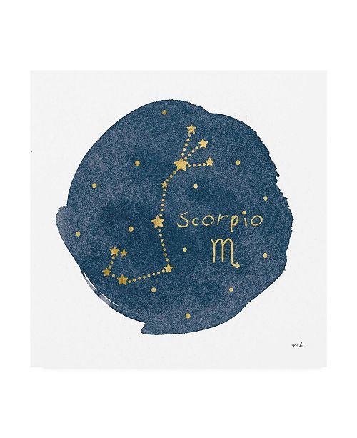 """Trademark Global Moira Hershey Horoscope Scorpio Canvas Art - 15.5"""" x 21"""""""