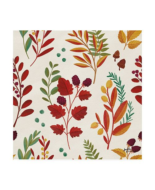 "Trademark Global Janelle Penner Spread the Love Pattern V Canvas Art - 36.5"" x 48"""