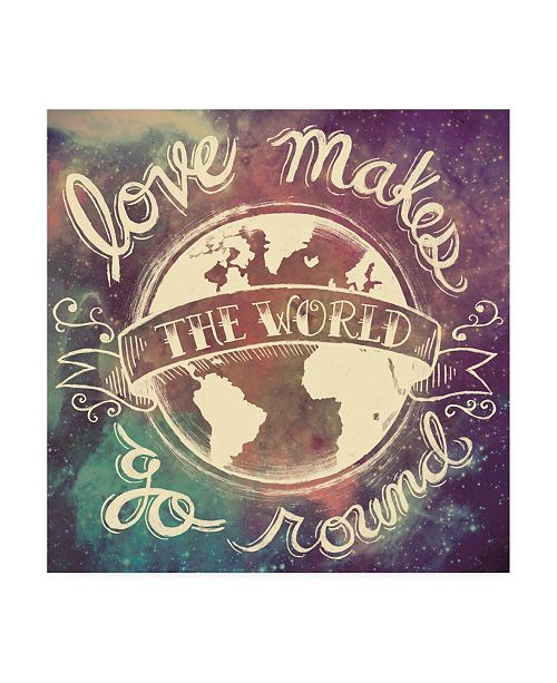 "Trademark Global Mary Urban Universe Galaxy Love Makes Canvas Art - 15.5"" x 21"""