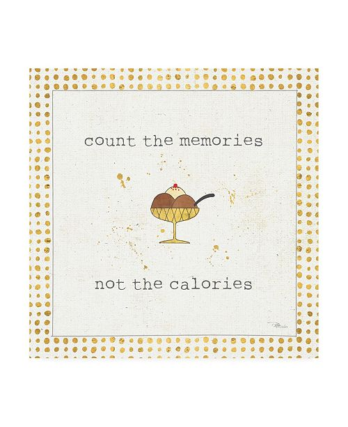 "Trademark Global Pela Studio Calorie Cuties VI Dot Border Canvas Art - 19.5"" x 26"""