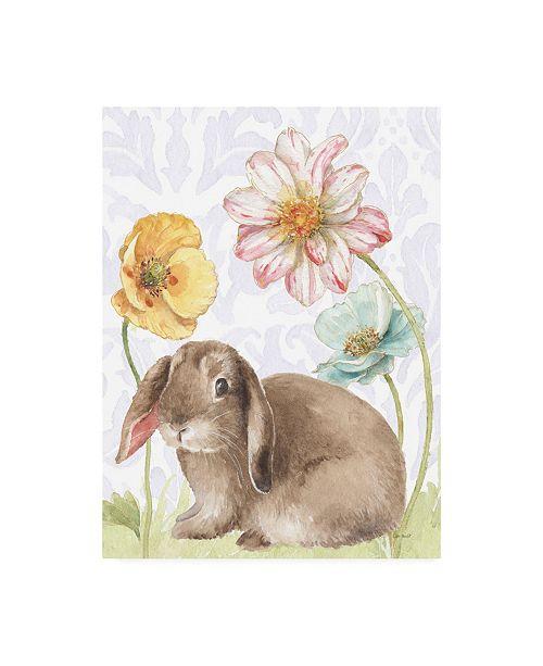 "Trademark Global Lisa Audit Spring Softies Bunnies III Purple Canvas Art - 15.5"" x 21"""