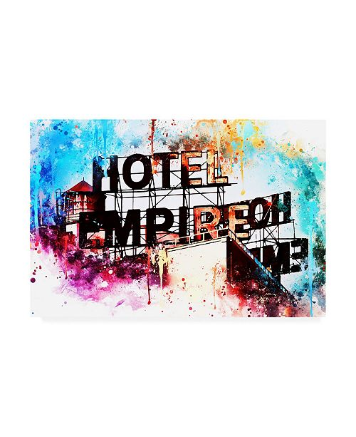 "Trademark Global Philippe Hugonnard NYC Watercolor Collection - Hote Empire Canvas Art - 36.5"" x 48"""