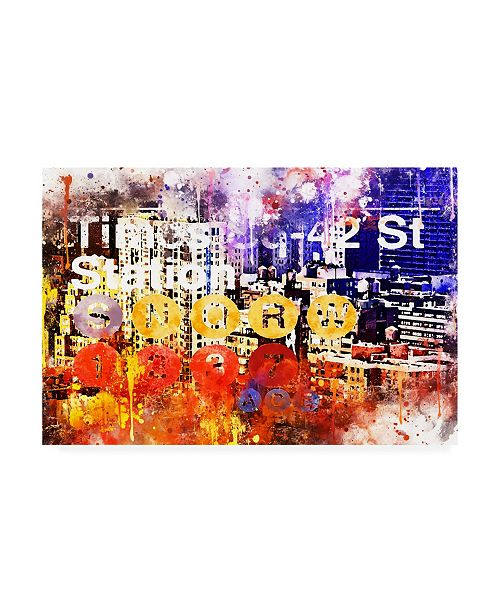 "Trademark Global Philippe Hugonnard NYC Watercolor Collection - Subway 42 Street Canvas Art - 15.5"" x 21"""