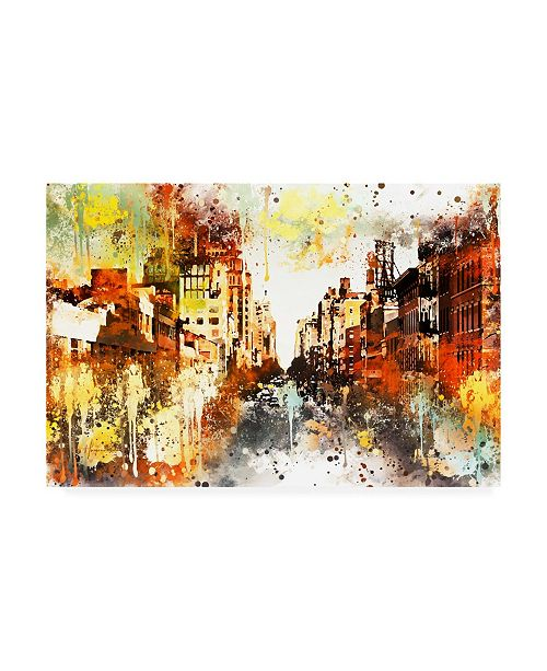 "Trademark Global Philippe Hugonnard NYC Watercolor Collection - Urban Street Canvas Art - 15.5"" x 21"""