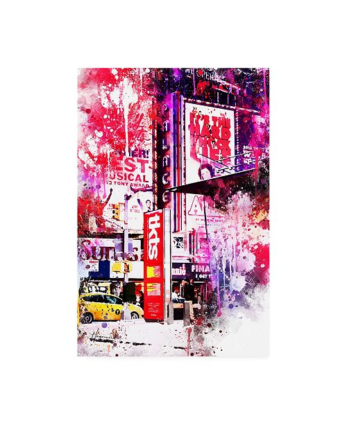 """Trademark Global Philippe Hugonnard NYC Watercolor Collection - Musical Canvas Art - 15.5"""" x 21"""""""