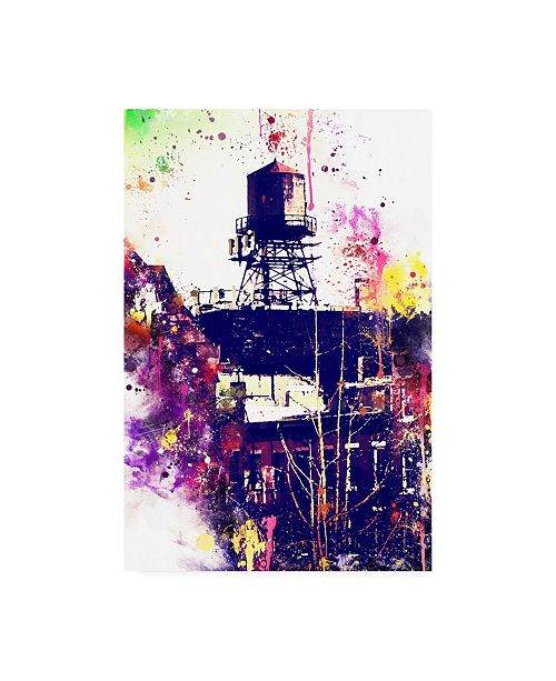 "Trademark Global Philippe Hugonnard NYC Watercolor Collection - Watertank Canvas Art - 27"" x 33.5"""
