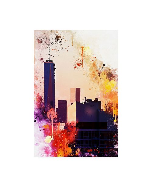 "Trademark Global Philippe Hugonnard NYC Watercolor Collection - One World Trade center Canvas Art - 27"" x 33.5"""