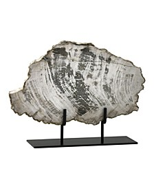 Petrified Wood Slice on Stand - Taupe Collection