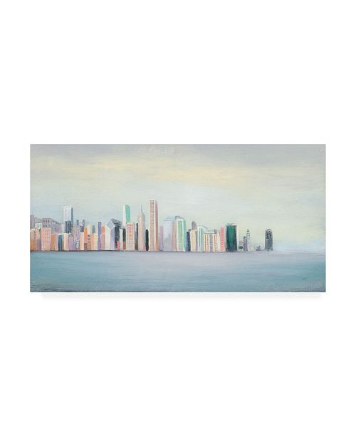"Trademark Global Julia Purinton New York Skyline Blue Crop Canvas Art - 36.5"" x 48"""