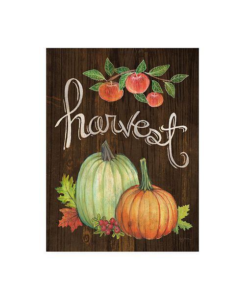 "Trademark Global Mary Urban Autumn Harvest IV Walnut Canvas Art - 19.5"" x 26"""
