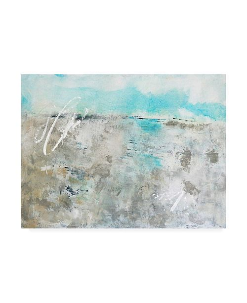 "Trademark Global Mila Apperl Beach and Blue Skies Canvas Art - 15.5"" x 21"""