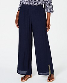 Embellished Textured Pants, Created for Macy's