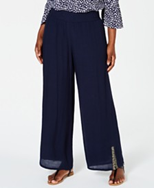 JM Collection Embellished Textured Pants, Created for Macy's