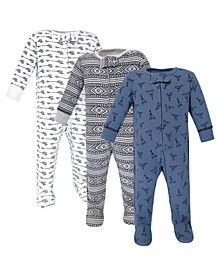 Zipper Sleep N Play, Teepee, 3 Pack, Preemie