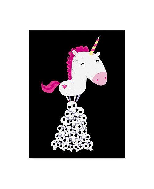 "Trademark Global Michael Buxto Killer Unicorn Canvas Art - 27"" x 33.5"""