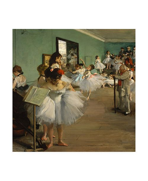 "Trademark Global Edgar Dega The Dance Class Canvas Art - 19.5"" x 26"""