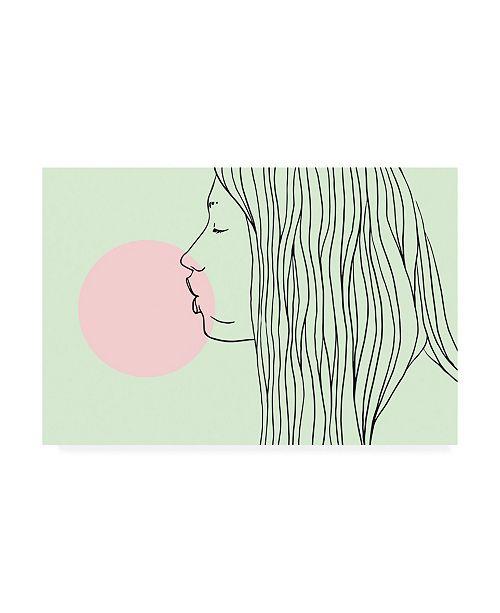 """Trademark Global Robert Farka Pink Bubble Gum Canvas Art - 27"""" x 33.5"""""""