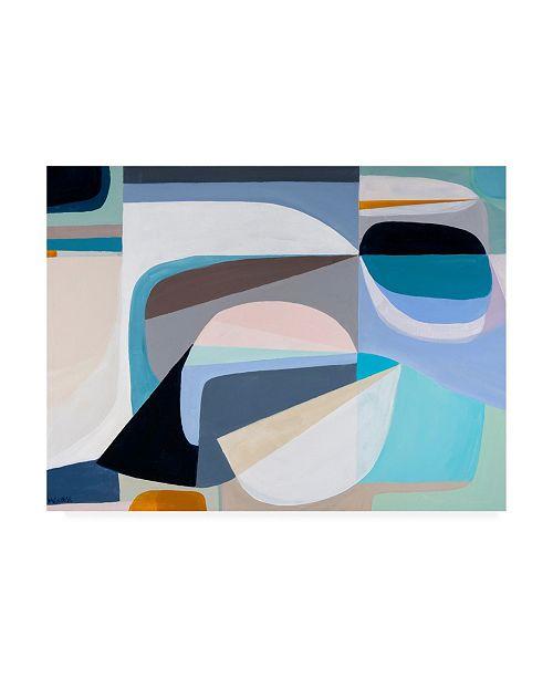 """Trademark Global Marion Gries Drift Geometric Canvas Art - 19.5"""" x 26"""""""