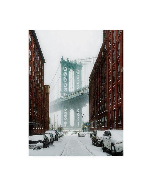 "Trademark Global Bruce Gett The New York Blizzard Canvas Art - 15.5"" x 21"""