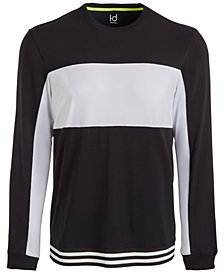 ID Ideology Men's Mesh-Blocked Long-Sleeve T-Shirt, Created for Macy's