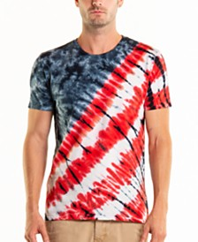 Original Paperbacks South Sea 4th of July Tie Dye Crewneck Tee