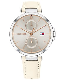 Tommy Hilfiger Women's Blush Leather Strap Watch 38mm