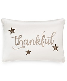 "Thankful 14"" x 20"" Decorative Pillow, Created for Macy's"