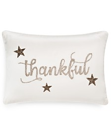 "Home Design Studio Thankful 14"" x 20"" Decorative Pillow, Created for Macy's"
