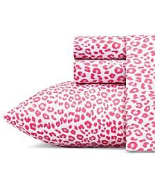 Betsey Johnson Betseys Leopard Sheet Set, King