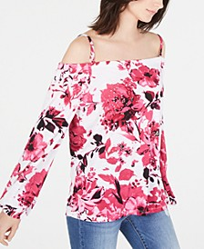 INC Printed Off-The-Shoulder Top, Created for Macy's