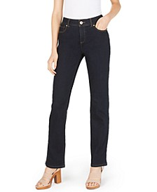 INC Petite Tummy-Control Straight-Leg Jeans, Created for Macy's