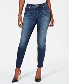 I.N.C. INCEssential Curvy-Fit Skinny Jeans with Tummy Control, Created for Macy's