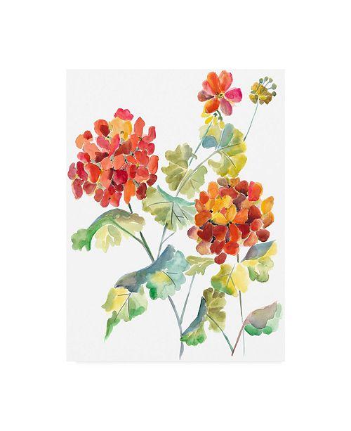 "Trademark Global Chariklia Zarris Cranesbills I Canvas Art - 20"" x 25"""