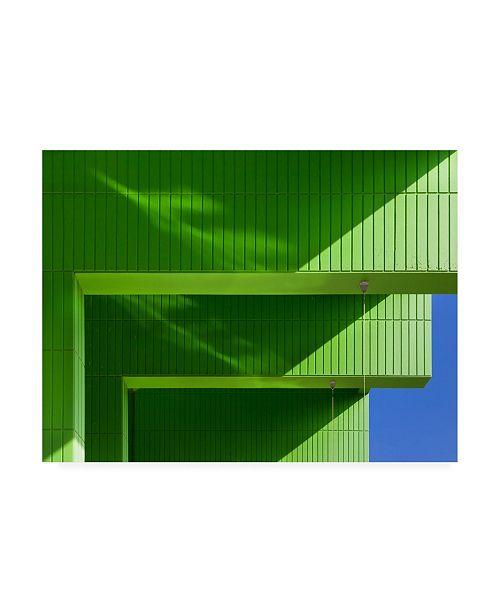 "Trademark Global Jeroen Van De Green Modern Architecture Canvas Art - 20"" x 25"""