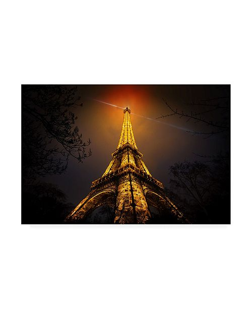 "Trademark Global Clemens Geiger La Tour Eiffel Canvas Art - 20"" x 25"""