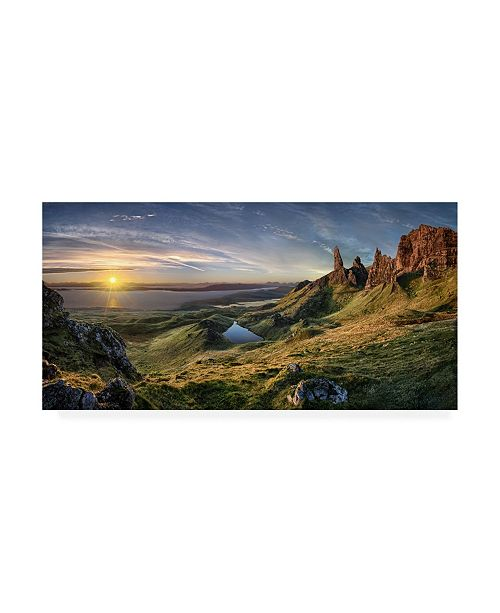 "Trademark Global Christian Schweiger The Old Man of Storr Canvas Art - 20"" x 25"""