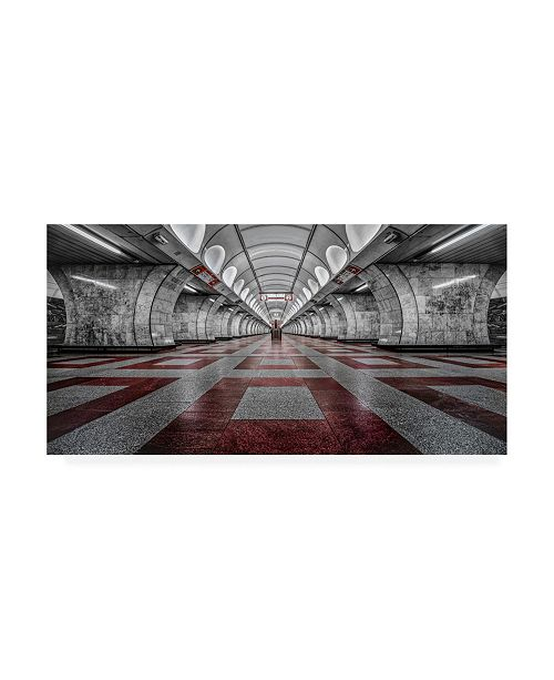 "Trademark Global Massimo Cuomo Prague Metro Canvas Art - 37"" x 49"""