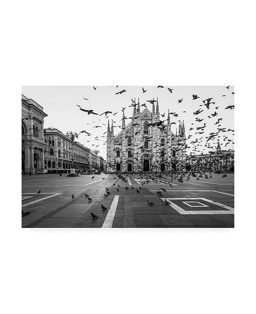 "Trademark Global Tzvika Stein Hitchcock in Milano Canvas Art - 15"" x 20"""