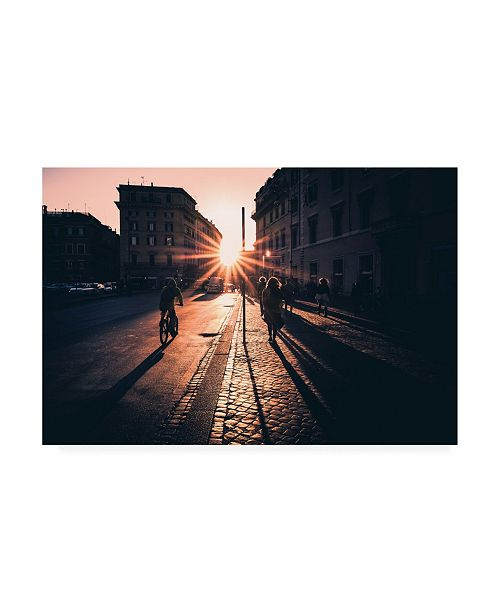 "Trademark Global Massimiliano Mancini Urban Glare Sunrise Canvas Art - 37"" x 49"""