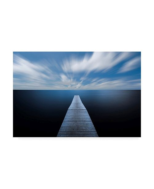 "Trademark Global Christian Lindsten On the Edge of the World Coastline Canvas Art - 20"" x 25"""