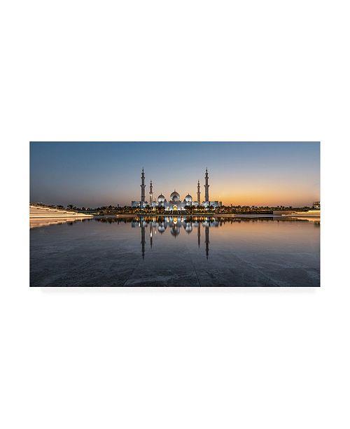 """Trademark Global Rana Jabeen Pristine Mosque Canvas Art - 37"""" x 49"""""""