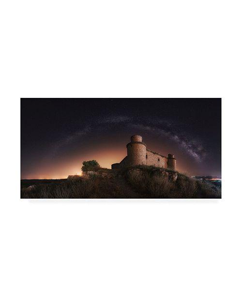 "Trademark Global Ivan Ferrero Night in the Old Castle Canvas Art - 20"" x 25"""