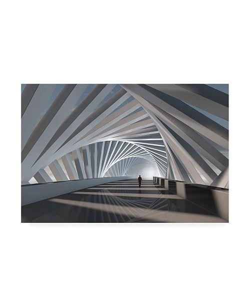 "Trademark Global Mountain Cloud Abstract Corridor Canvas Art - 15"" x 20"""