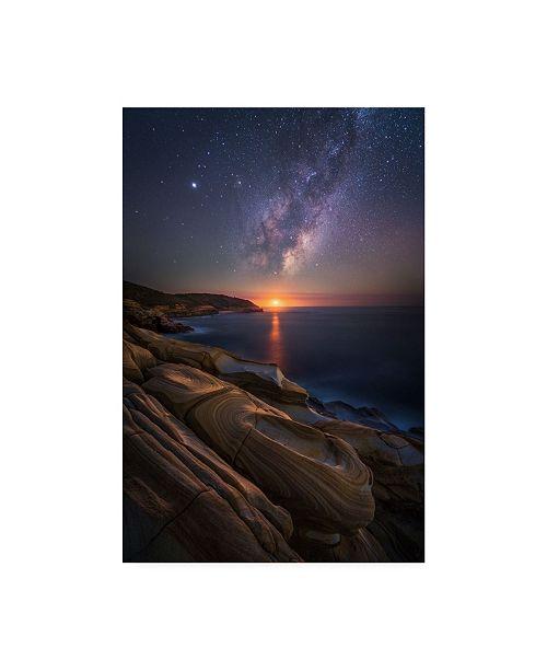 "Trademark Global Tim Fan Lonely Planet Sunset Canvas Art - 37"" x 49"""