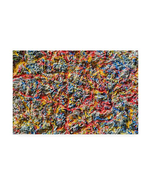 "Trademark Global Mark Lovejoy Abstract Splatters Lovejoy 1 Canvas Art - 15"" x 20"""