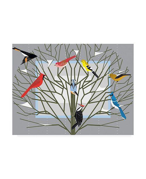 "Trademark Global Marie Sansone New Winter Tree Canvas Art - 37"" x 49"""