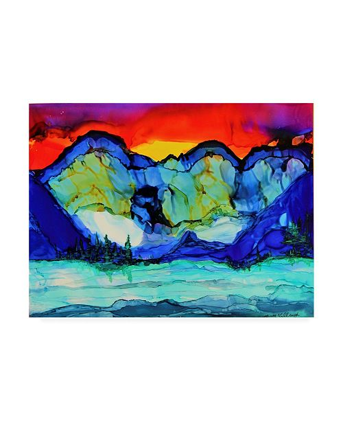 "Trademark Global Michelle Mccullough Mountain Glow Sky Canvas Art - 37"" x 49"""